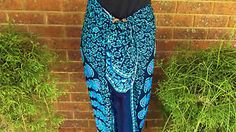 Sarong-Wrap-Beach-cover-up-Beautiful-Blues-amp-Pink-Brand-New