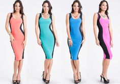 """Full of colors ☺ Flatter your curves in our """"Fits like a Glove"""" Midi Dress!  ➡️ www.LeVixen.com  #LeVixen #WomensFashion #Dresses #MidiDress #OOTD #Fashion #Style #Monday Ootd Fashion, Womens Fashion, Glove, Women's Dresses, Curves, Colors, Fitness, Swimwear, Outfits"""