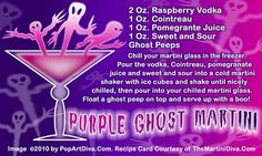 Purple Ghost Martini