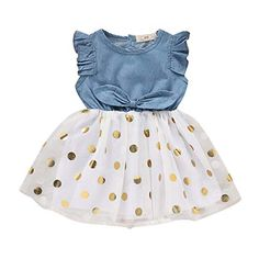 Baby Toddle Girls Tutu Dress Short Sleeves/&Sleeveless Stripe Tulle Skirts A-line Dress