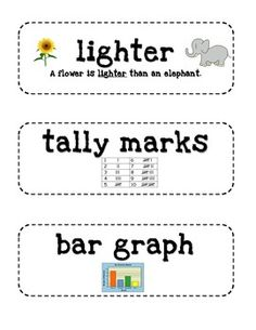 Everyday Math 2nd Grade Vocabulary Cards