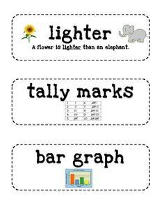 Everyday Math 2nd Grade Vocabulary Cards