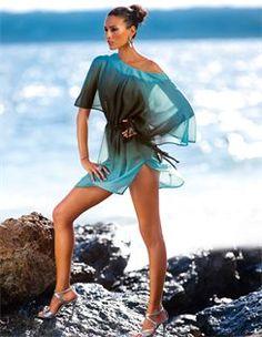 Tunika, Sandalette mit hohem Absatz