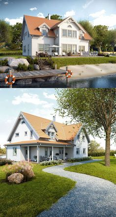 Kungsörnen - ny husmodell från Fiskarhedenvillan Exterior Paint Colors, Paint Colors For Home, Custom Home Builders, Custom Homes, Different Types Of Houses, Home Focus, Compact House, House Built, Model Homes