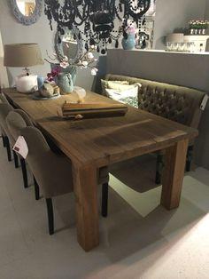 Voor een stoere robuuste tafel slag je bij de Twentse Meubelsmederij POTZ WONEN de mooiste Woonwinkel van Twente !  www.potzwonen.nl