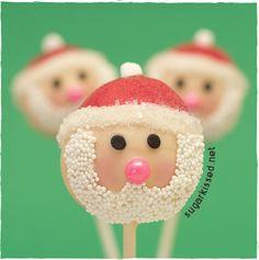 Santa Christmas Cake Pops Tutorial{click link for FULL tutorial}