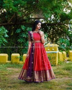 These Ethnic Long Dresses Will Give The Most Elegant Looks!! • Keep Me Stylish Gown Party Wear, Party Wear Indian Dresses, Indian Gowns Dresses, Indian Fashion Dresses, Dress Indian Style, Dress Neck Designs, Bridal Blouse Designs, Designs For Dresses, Long Gown Dress