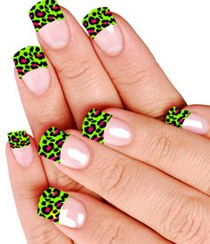 Green leopard print. Love the pink and green!