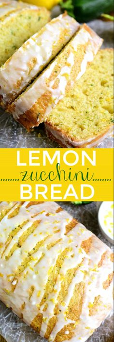 This Lemon Zucchini Bread combines two favorites in one delicious loaf of bread! Topped with a sweet lemony glaze its a great way to sneak in extra veggies and the BEST way to wake up! This Lemon Zucchini Bread combines two. Lemon Zucchini Bread, Zucchini Bread Recipes, Zucchini Bread Muffins, Zuchinni Bread, Lemon Loaf, Healthy Zucchini, Courgette Bread, Breaded Zucchini, Zucchini Desserts