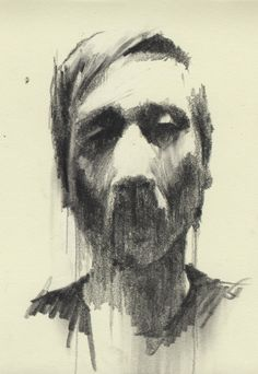 male self portrait line drawing - Google Search