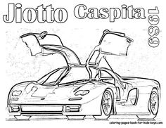 25 Sports Car Coloring Pages For Children