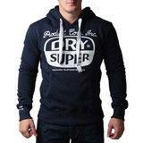 """Ανδρική Μπλούζα Hoodie """"Super Dry """" Super - Μπλέ Σκούρο #www.pinterest.com/brands4all"""