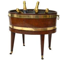 George III Mahogany Wine Cooler and Jardiniere Sorority Paddles, Sorority Crafts, Sorority Canvas, Sorority Recruitment, Frat Coolers, Wine Coolers, Cooler Stand, Sorority Big Little, Cooler Painting