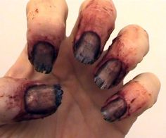 A short video from Stuart at http://www.learnprostheticmakeup.com/ showing you how to make a great set of nasty nails for a Halloween party zombie or ...