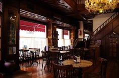 Ourense Orense - Galice - Espagne - 002 un café Praza Santa Eufemia