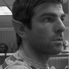 Zachary Quinto as Spock. This is adorable.