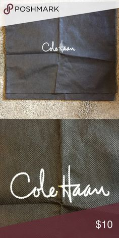 """Cole Haan Dust Cover Cole Haan Dust Cover, 15.5"""" by 13.75"""", dark brown Cole Haan Bags"""
