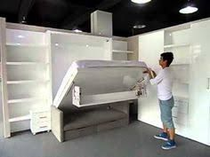 Image result for murphy bed hinged bookshelf DIY