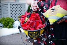 fire fighter wedding, ring bearer, flower girl, ben saefke photo, minnesota winter wedding