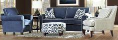 contemporary blue furniture