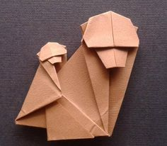 Origami monkey folded by me