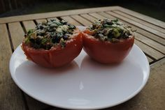 Tomatoes Stuffed with Spinach and Mushrooms Recipe on Yummly