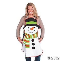 Adult's Snowman Apron - Oriental Trading