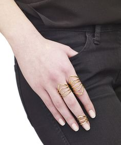 Mix and Match Chevron rings | Arme de L'amour | Female Lover Collection #ARMEDELAMOUR #ARMEYourself