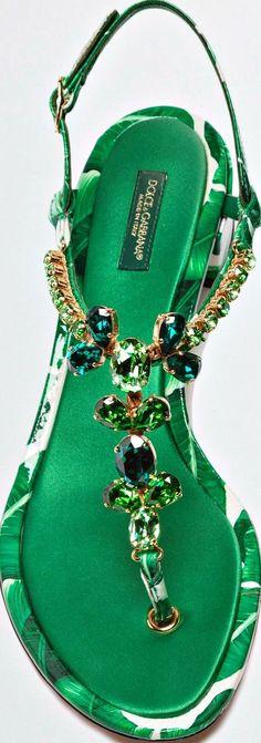 Dolce & Gabbana Crystal Flat