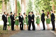 Love this #wedding photo. Wish they had a gay couple in the wedding party. #LGBT #GayWedding