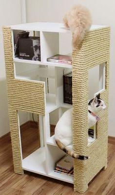 ideas for cat tree diy ropes Cool Cat Trees, Diy Cat Tree, Cool Cats, Cat Gym, Cat Hacks, Cat Shelves, Cat Condo, Pet Furniture, Cat Accessories