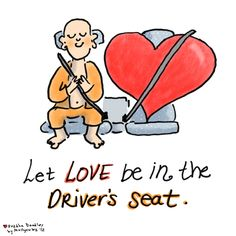 Buddha Doodle - 'Driver's Seat'  by Mollycules  this came to me during my run today <3
