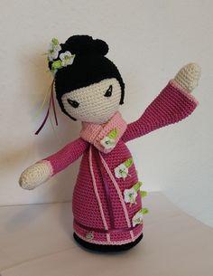 Häkelanleitungen - Häkelanleitung Geisha *SAKURA* japanische Puppe - ein…