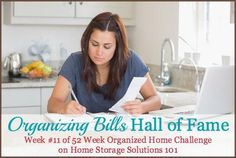 Ideas for organizing bills both before paid and after paid {on Home Storage Solutions 101}