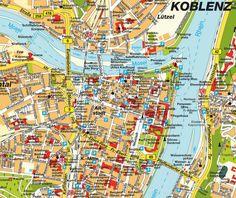Mappa di Coblenza - Cartina di Coblenza