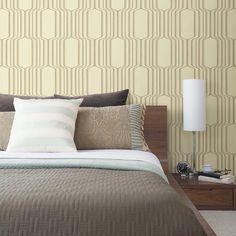 "Brewster Home Fashions Geo Vina Square Ogee 33' x 20.5"" Geometric 3D Embossed Wallpaper | AllModern"