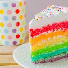 Pastel Arcoíris de Cumpleaños