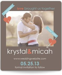 Save the Date Magnets - Love Brought Us Together