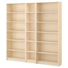 """BILLY Bookcase, birch veneer $277.00 The price reflects selected options Article Number :798.690.21  Product dimensions Width: 78 3/4 """" Depth: 11 """" Height: 79 1/2 """""""