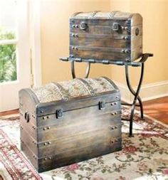 Pirate chests! So, thats what they are called? My grandmother had a black one, in her basement. Scared me to death.