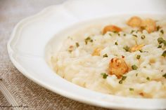 Risotto with hazelnuts and Castelmagno cheese