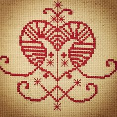 Etsy/erzulie-voodoo-veve-cross-stitch-pattern-fertility, love, beauty, children
