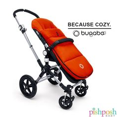 Outfit your bugaboo stroller with our collection of Universal Footmuffs in 15 gorgeous colors. No more chilly toesies! Makes a great gift!  http://www.pishposhbaby.com/bugaboo-universal-footmuff--2011.html