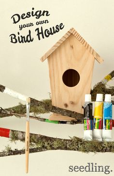 Attract all your neighborhood birds with your very own painted bird house! Great for an outdoor crafting day with the kids!