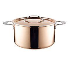 24cm Copper Tri-Ply Stockpot