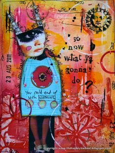 Art Journal - what ya gonna do? by thekathrynwheel, via Flickr