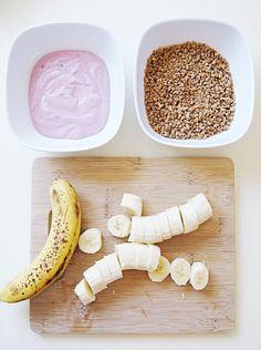 Easy Frozen Summer Treats to Try - Bananas, Yogurt, and Grape Nuts Combo