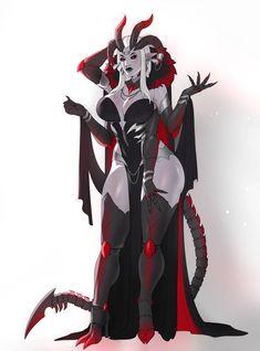 [C] Royal gown by Akira-Raikou on DeviantArt Dark Fantasy Art, Fantasy Demon, Fantasy Art Women, Demon Art, Fantasy Girl, Fantasy Artwork, Female Character Design, Character Design Inspiration, Character Art