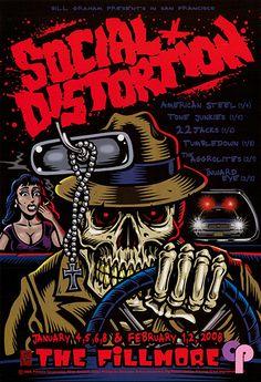 Classic Poster - Social Distortion at Fillmore Auditorium San ...
