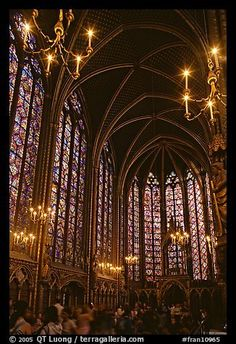 Picture/photo (France Churches): Upper Holy Chapel. Paris, France My life will never be complete until I see this in person. Most beautiful!!!